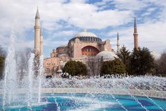Haghia Sophia in Istanbul Turkey Stock Photo