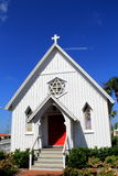 One of the oldest surviving chapels on Jax Beach, and first was known as St. Paul's By-the-Sea Episcopal Church,2015. This charming structure,Built 125 years ago Royalty Free Stock Image