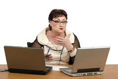 One-on-one online math tutoring Stock Photography