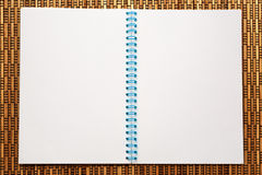 One open blank notebook Stock Image