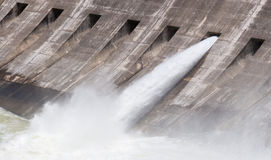 One open flood gate Stock Photography