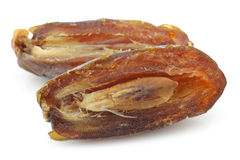 One opened dried date Royalty Free Stock Photography