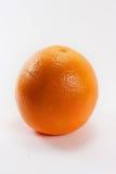 One orange fruit. Isolated over white background Royalty Free Stock Image