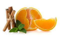 One orange fruit segment Stock Image