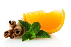 One orange fruit segment Stock Photo