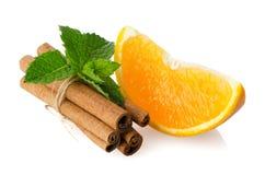 One orange fruit segment Royalty Free Stock Photo