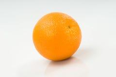 One Orange Isolated on White Stock Image