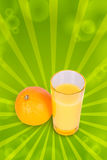 One orange and juice Stock Photography