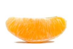 One Orange Section Isolated on White Background Royalty Free Stock Photos