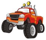 One orange truck Royalty Free Stock Image