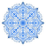One ornate snowflake. Vector  illustration. Ornament bea Royalty Free Stock Image