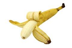 One overripe banana open Stock Photos