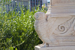 One owl statue stock image