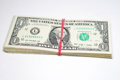 One pack of dollars Royalty Free Stock Photos