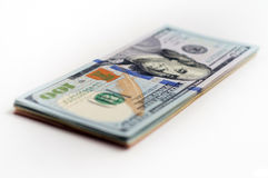 One pack of US dollars banknotes Royalty Free Stock Photo