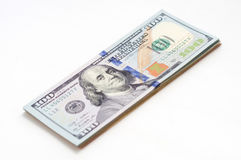 One pack of US dollars banknotes Stock Photos