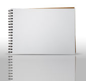 One Page of Sketch Book. And Reflection Royalty Free Stock Images