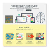 One page web design template. Stock Photos