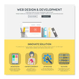 One page web design template. Stock Image