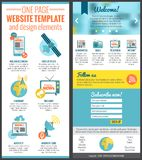 One page web site template Royalty Free Stock Images