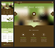One Page Website Design Stock Images