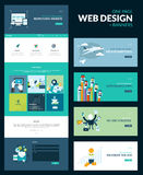 One page website design template Stock Photos