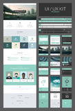 One page website design template Stock Photography