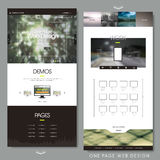 One page website design template Royalty Free Stock Photography