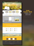 One page website design template Stock Image