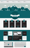 One page website design template. with flat style landscape Stock Images