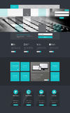 One page website design template, Vector Eps10 Stock Image