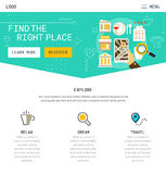 One Page Website Design stock illustration