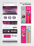 One page website flat UI design template. Royalty Free Stock Images