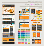 One page website flat UI UXdesign template. Stock Photos