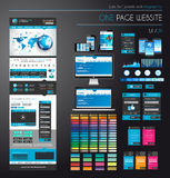 One page website flat UI UXdesign template. Royalty Free Stock Images