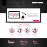 One Page Website Template and Business Still Life. royalty free illustration