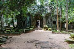 Ta Som temple. This is one pagoda in the Ta Som temple. Ta Som temple is very like Ta Prohm temple. It is one temple inside the jungle Stock Photos
