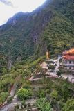 Pagoda in the in the Taroko Gorge, Taiwan royalty free stock images