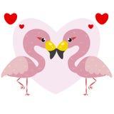 One pair of cute flamingos Royalty Free Stock Photos