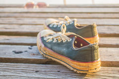 One pair of sneakers Stock Photo