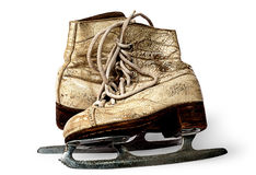 One pair of women skates are towards each other Stock Image