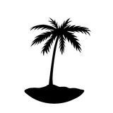 One palm tree island Royalty Free Stock Image