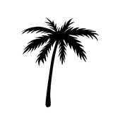 One palm tree outline Royalty Free Stock Images
