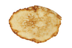 One pancake. Small pancake made from vegetable marrow. Isolated on white background Stock Photo