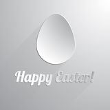 One paper happy easter egg. Vector illustration Royalty Free Stock Images