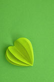 One paper heart Stock Image