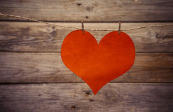 One paper heart Royalty Free Stock Image