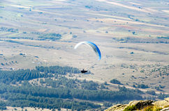 One paraglider fly over a mountain Royalty Free Stock Photography