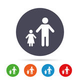 One-parent family with one child sign icon. Stock Photography