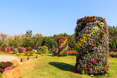 One part of beautiful formal garden. With blue sky Stock Images